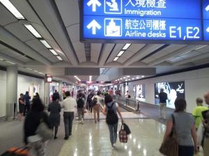 Ayéééé.  Le début de la galère à l'aéroport de Hong-Kong