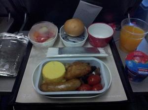 Leur fameux breakfast. Manger ça, une grande première (encore !)