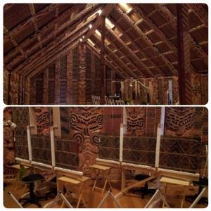 Maison traditionnelle, où il est coutume de se déchausser par respect au dieu (machin bidule)