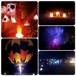 Jeux de lumières, danses brésiliennes, contemporaines, lanternes d'enfants...