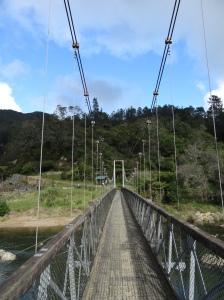 Début de la rando, au-dessus de Ohinemuri River