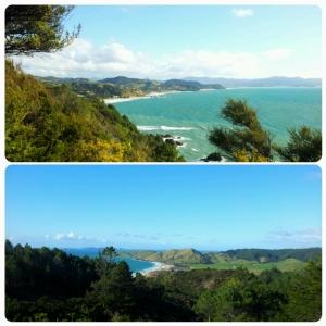 En haut: Kuaotunu Beach; En bas: Otama Beach