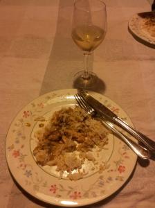 Lapin à la moutarde et vin blanc. VERY GOOD.