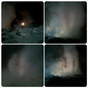 Te Pō, evening experience - Pohutu geyser, paysage presque lunaire !