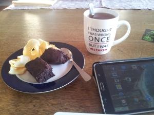 Mon tea time, l'occasion de rédiger mon dernier article...