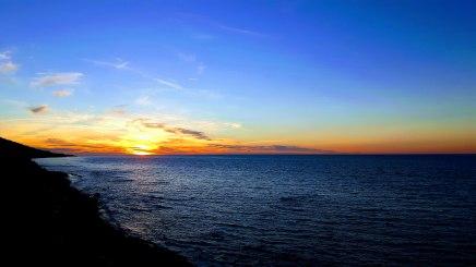 Un des nombreux couchers de soleil sur le St-Laurent...